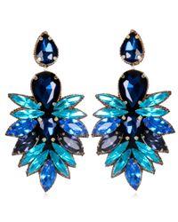 Suzanna Dai | Blue Cuzco Drop Earrings, Cobalt/navy | Lyst