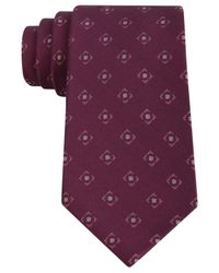 DKNY | Red Flat Neat Slim Tie for Men | Lyst