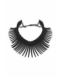 TOPSHOP | Black Matte Stick Necklace | Lyst