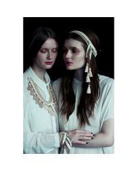 Margot & Me - Metallic Crochet Necklace Mara In Nature - Lyst