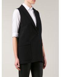 Givenchy | Black Sleeveless Blazer | Lyst