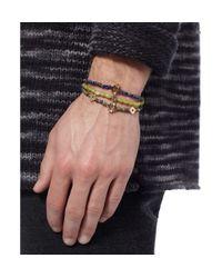 Luis Morais - Blue Gold, Jadeite And Glass Bead Bracelet Set Of 3 for Men - Lyst