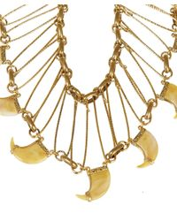 Lulu Frost | Metallic Gold-Tone Cleo Statement Necklace | Lyst
