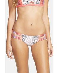 Rip Curl - Pink 'mirage Wild Child' Reversible Bikini Bottoms - Lyst