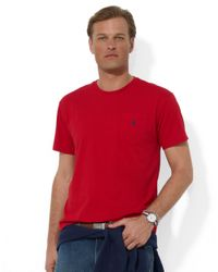 Polo Ralph Lauren | Red Short-sleeved Pocket Crewneck T-shirt for Men | Lyst