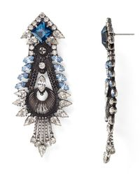 DANNIJO | Blue Eli Crystal Drop Earrings | Lyst