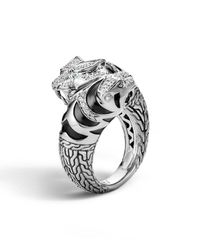 John Hardy | Metallic Classic Chain Macan Double Head Diamond Ring | Lyst