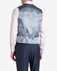 Ted Baker - Blue Sterling Wool Suit Waistcoat for Men - Lyst