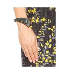 Marni | Gray Leather And Metal Bracelet | Lyst