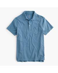 J.Crew | Blue Tall Broken-in Pocket Polo Shirt for Men | Lyst