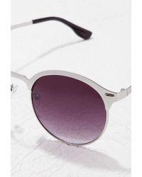 Forever 21 - Gray Classic Half-bridge Sunglasses - Lyst