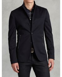 John Varvatos | Blue Convertible Lapel Jacket for Men | Lyst