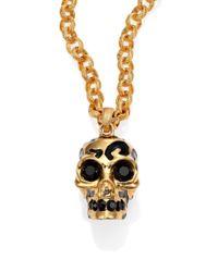 Alexander McQueen | Metallic Leopard Skull Pendant Necklace | Lyst