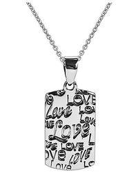 Aeravida | Metallic Inspirational Phrase 'live Laugh Love' .925 Silver Necklace | Lyst