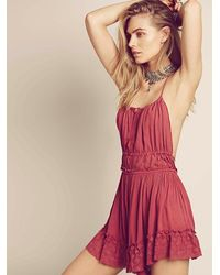 Free People - Pink Endless Summer Womens Ready For Anything Romper - Lyst