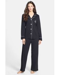 Lauren by Ralph Lauren | Black Knit Pajamas | Lyst