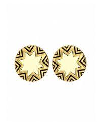 House of Harlow 1960 - Metallic Mini Sunburst Stud Earrings - Lyst