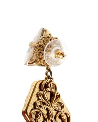 Erickson Beamon | Metallic 'Sacred Geometry' Glitter Crystal Spike Earrings | Lyst
