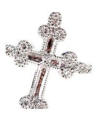 Stone | Metallic Devotion 18kt White Gold Ring With White Diamonds | Lyst