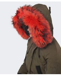 KENZO - Natural Fur Trim Parka - Lyst