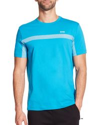 Saks Fifth Avenue - Blue Boss Green Graphic Logo Tee for Men - Lyst