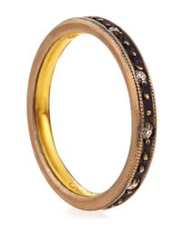 Gurhan | Brown Texturededge Diamond Band Ring Size 7 | Lyst