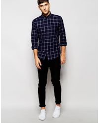 Esprit - Blue Window Pane Check Shirt for Men - Lyst