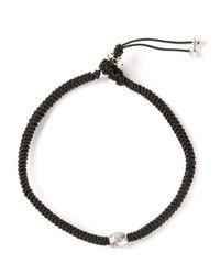 Luis Morais - Black Braided Bracelet - Lyst
