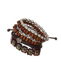 TOPMAN - Brown Multi Pack Wristwear* for Men - Lyst