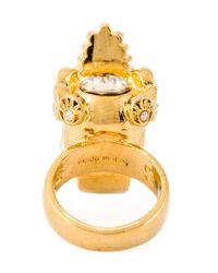 Alexander McQueen | Metallic Queen Skull Cocktail Ring | Lyst