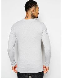 ASOS - Gray Extreme Muscle Long Sleeve T-shirt With V Neck In Grey for Men - Lyst
