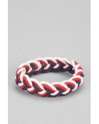 Urban Outfitters - Blue Sailor Knot Americana Bracelet for Men - Lyst