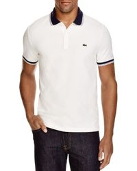 Lacoste | White Stretch Cotton Slim Fit Polo for Men | Lyst