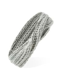 Forever 21 - Gray Metallic Knit Twisted Headwrap - Lyst