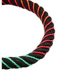 Aurelie Bidermann | Black Maya Beaded Silk Necklace | Lyst