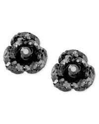 Betsey Johnson   Black Crystal Stud Earrings   Lyst