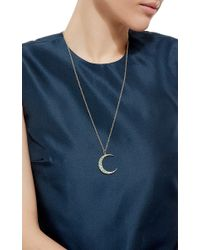 Andrea Fohrman | Green Emeralds Moon Necklace | Lyst