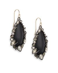Alexis Bittar - Black Imperial Noir Lucite, Pyrite & Crystal Lace Drop Earrings - Lyst