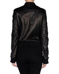 Diesel Black Gold - Black Leather Jacket - Lyst
