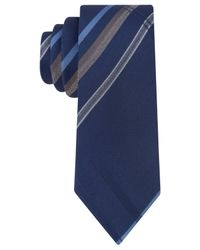 Kenneth Cole Reaction | Blue Twill Ground Slim Tie for Men | Lyst