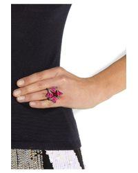 Eddie Borgo | Multicolor Lotus Ionized Ring | Lyst