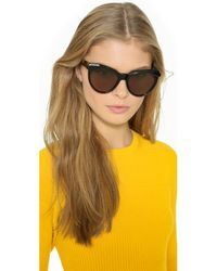 Zanzan - Erzulie Sunglasses - Black Gold Leopard/rum - Lyst