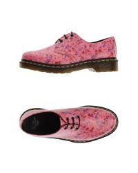 Dr. Martens - Pink Lace-up Shoe - Lyst