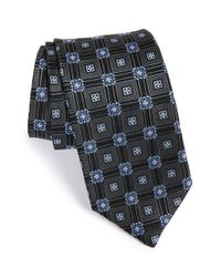 JZ Richards - Black Geometric Medallion Woven Silk Tie for Men - Lyst