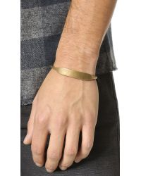 Giles & Brother - Metallic Id Cuff for Men - Lyst