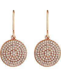 Astley Clarke | Pink Icon 14ct Rose Gold Diamond Drop Earrings | Lyst