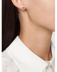 Eddie Borgo - Pink Triangle Embellishment Round Earrings - Lyst