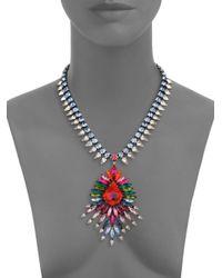 DANNIJO | Multicolor Valeria Crystal Statement Pendant Necklace | Lyst