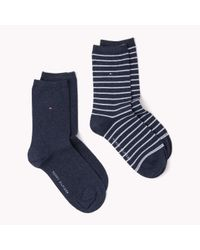 Tommy Hilfiger | Blue 2-pack Socks | Lyst