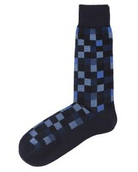 Hackett | Blue Multi Block Socks for Men | Lyst